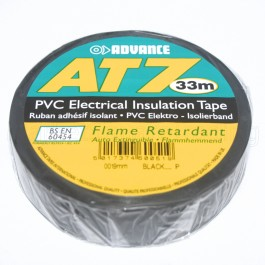 BLACK INSULANTION TAPE AT7 33M X 19MM ADVANCE ELECTRIC FLAME RETARDANT