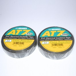 2 X ROLLS BLACK INSULANTION TAPE AT7 33M X 19MM ADVANCE ELECTRIC FLAME RETARDANT