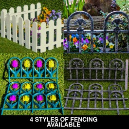 Green Jem Plastic Fence - Multix3pc