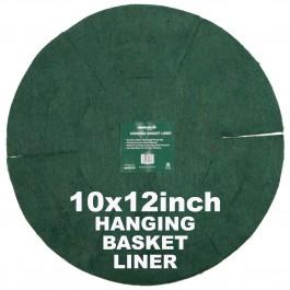 """Green Jem  Hanging Basket Liner (12"""") x 10"""