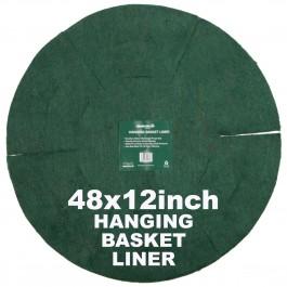 """Green Jem  Hanging Basket Liner (12"""") x 48"""