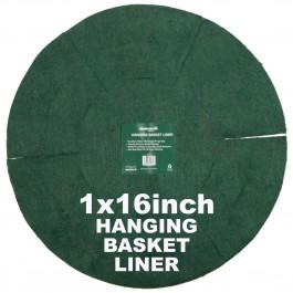 """Green Jem  Hanging Basket Liner (16"""")"""