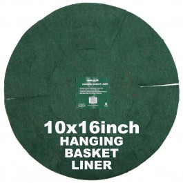 "Green Jem  Hanging Basket Liner (16"") x 10"