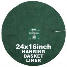 """Green Jem  Hanging Basket Liner (16"""") x 24"""