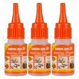 Super Glue High Strength Green Jem Strong 3x20g Bottles Cyanoacrylate TGGL20G