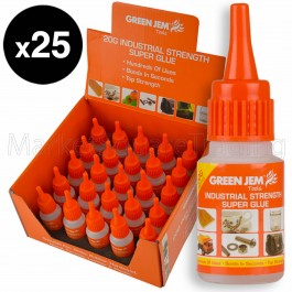 Super Glue High Strength Green Jem Strong 25x20g Bottles Cyanoacrylate TGGL20G