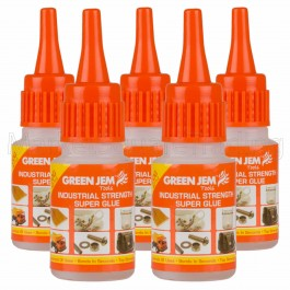 Super Glue High Strength Green Jem Strong 5x20g Bottles Cyanoacrylate TGGL20G