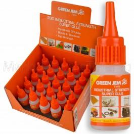 Super Glue High Strength Green Jem Strong 20g Bottles Cyanoacrylate TGGL20G