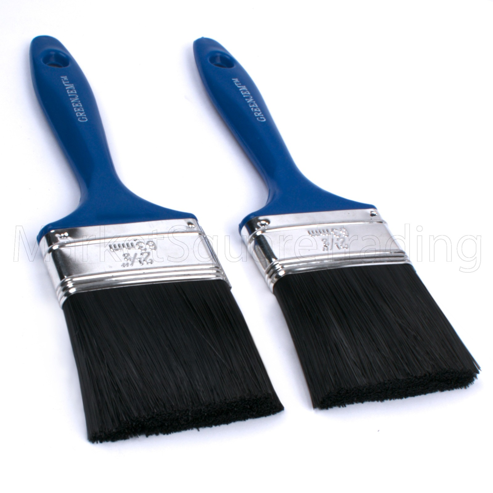 Green Jem Delux 2pc Paint Brush 2x2.5""