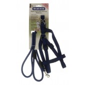 ROPE LEAD WITH MEDIUM HARNESS BLUE