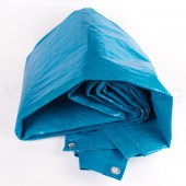 GREEN JEM BLUE POLYETHYLENE WOVEN TARPAULIN 12ft x 8FT