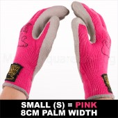 12 X PAIR WORK GARDEN WOMENS GLOVE WARM EXTRA THICK WINTER LATEX GRIP S SIZE 8CM