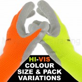 WINTER WORK GARDEN GLOVES HI-VIS EXTRA WARM GOOD QUALITY THICK HEAVY DUTY LATEX