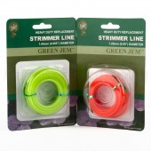 Strimmer Line Mixed Pack Green Jem Electric Strimmers 2 x*15mtr 1.65+1.25mm Rolls