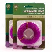 Strimmer Line Green Jem Petrol Strimmers 2 x*15mtr 2.00mm Rolls