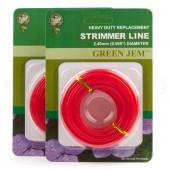 Strimmer Line Green Jem Petrol Strimmers 2 x*10mtr 2.40mm Rolls
