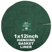 """Green Jem  Hanging Basket Liner (12"""")"""