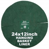 "Green Jem  Hanging Basket Liner (12"") x 24"