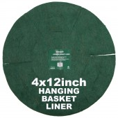 "Green Jem  Hanging Basket Liner (12"") x 4"
