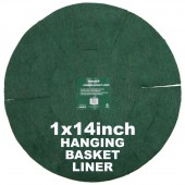 "Green Jem  Hanging Basket Liner (14"")"