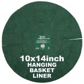 "Green Jem  Hanging Basket Liner (14"") x 10"