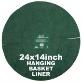 "Green Jem  Hanging Basket Liner (14"") x 24"