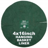 "Green Jem  Hanging Basket Liner (16"") x 4"