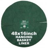 """Green Jem  Hanging Basket Liner (16"""") x 48"""