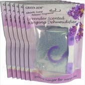 6 PACKS GREEN JEM 500ml DEHUMIDIFIER SCENTED WARDROBE HANGER - LAVENDER SCENTED