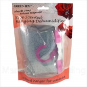 GREEN JEM 500ml DEHUMIDIFIER SCENTED WARDROBE HANGER - ROSE SCENTED