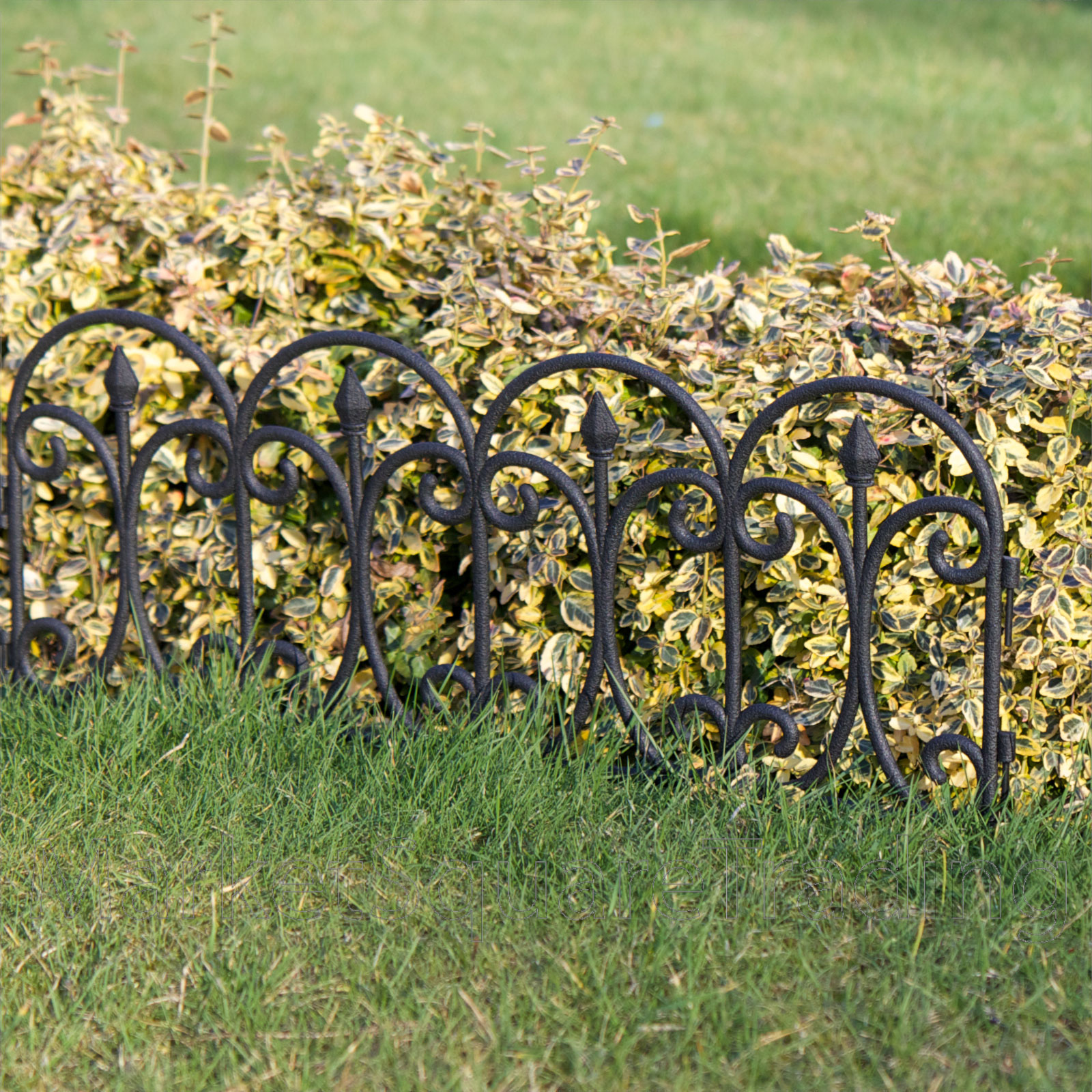 Plastic fencing lawn grass border path edging fancy small for Metal garden border