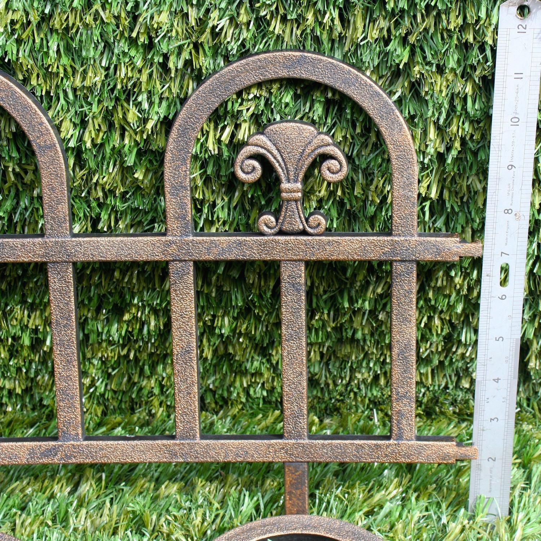 Plastic Fencing Lawn Grass Border Path Grave Edging Fancy Small Picket Flexible Ebay