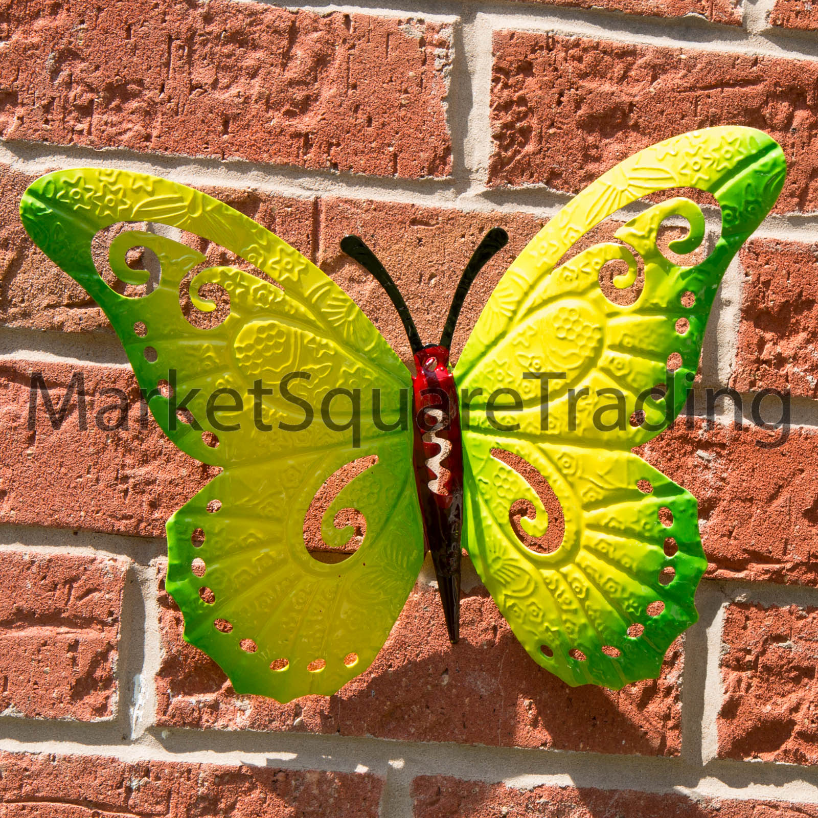 Butterfly Large Metal Butterflies Wall Art Set of 3 Outdoor Garden ...