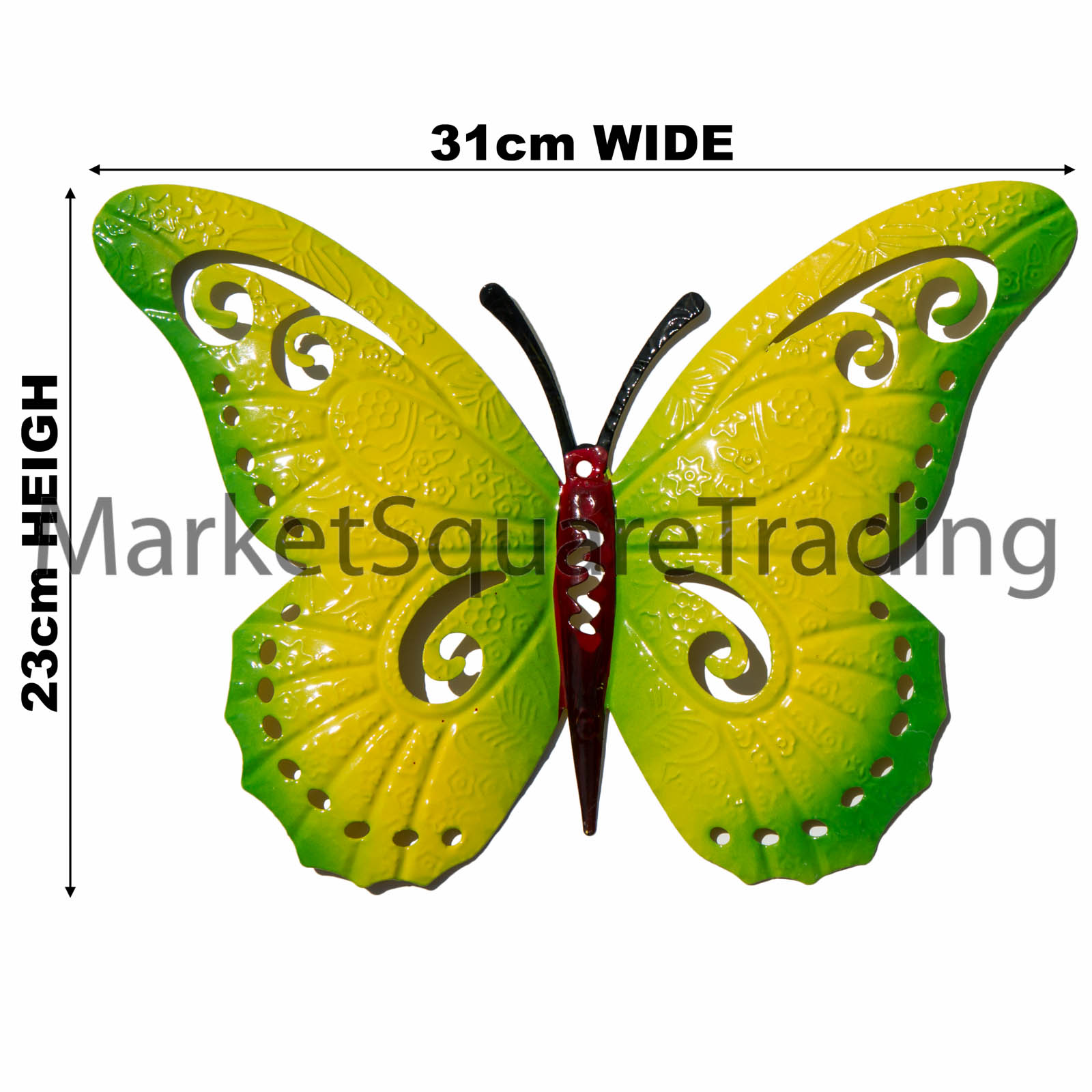 Colorful Outdoor Metal Butterfly Wall Art Image Collection - Wall ...
