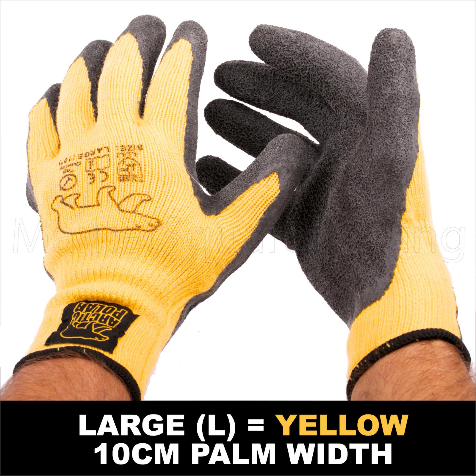 6 Pairs Outdoor Working Gloves Polar Grip Work Gardening Gloves Latex Coated New