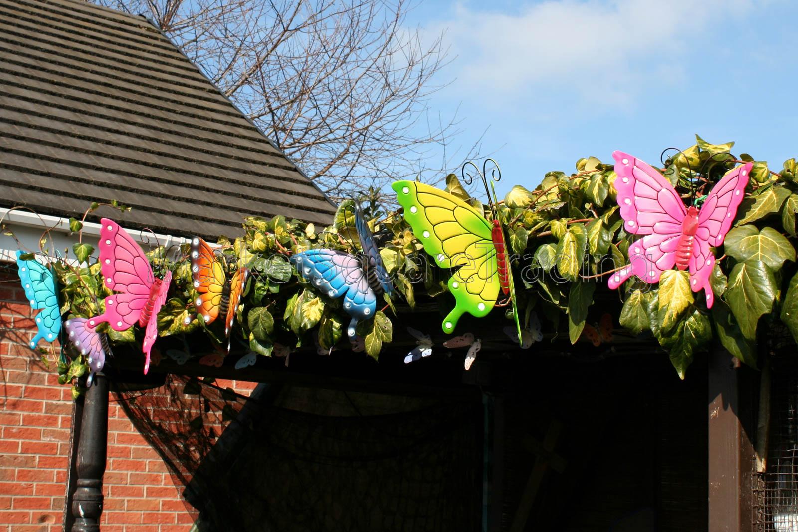 Détails sur Papillons décoration de jardin multicolore métal Extérieur  papillon XL Wall Art- afficher le titre d\'origine
