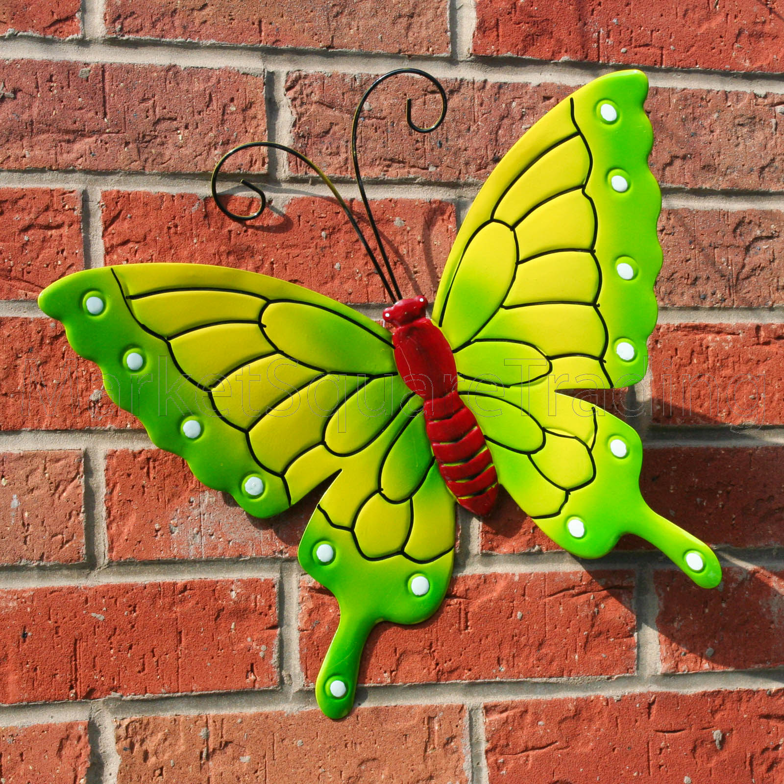 Butterfly Outdoor Ext Lrg New Green Metal Butterflies Garden Wall
