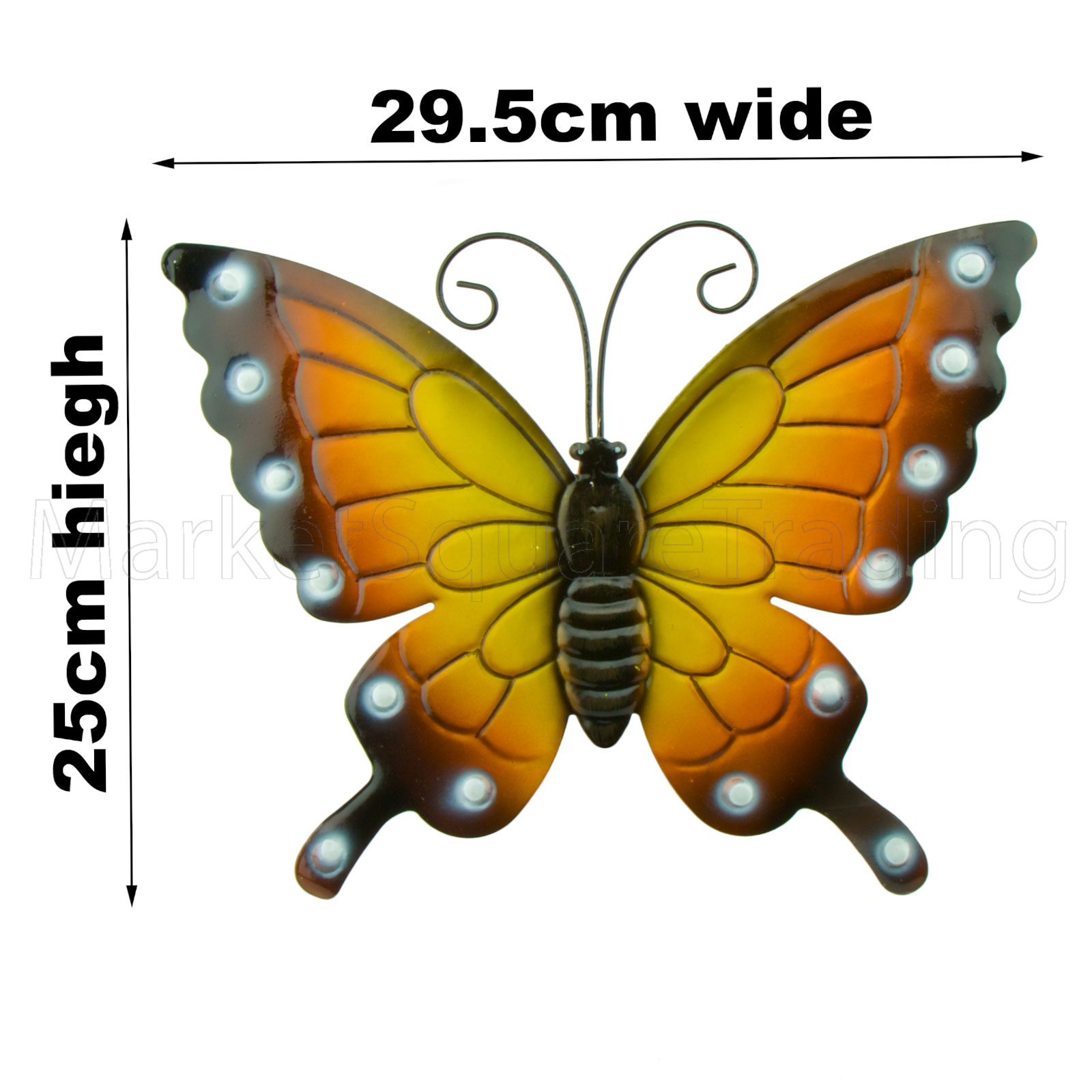 BUTTERFLIES GARDEN DECORATION MULTI COLOURED METAL OUTDOOR BUTTERFLY ...