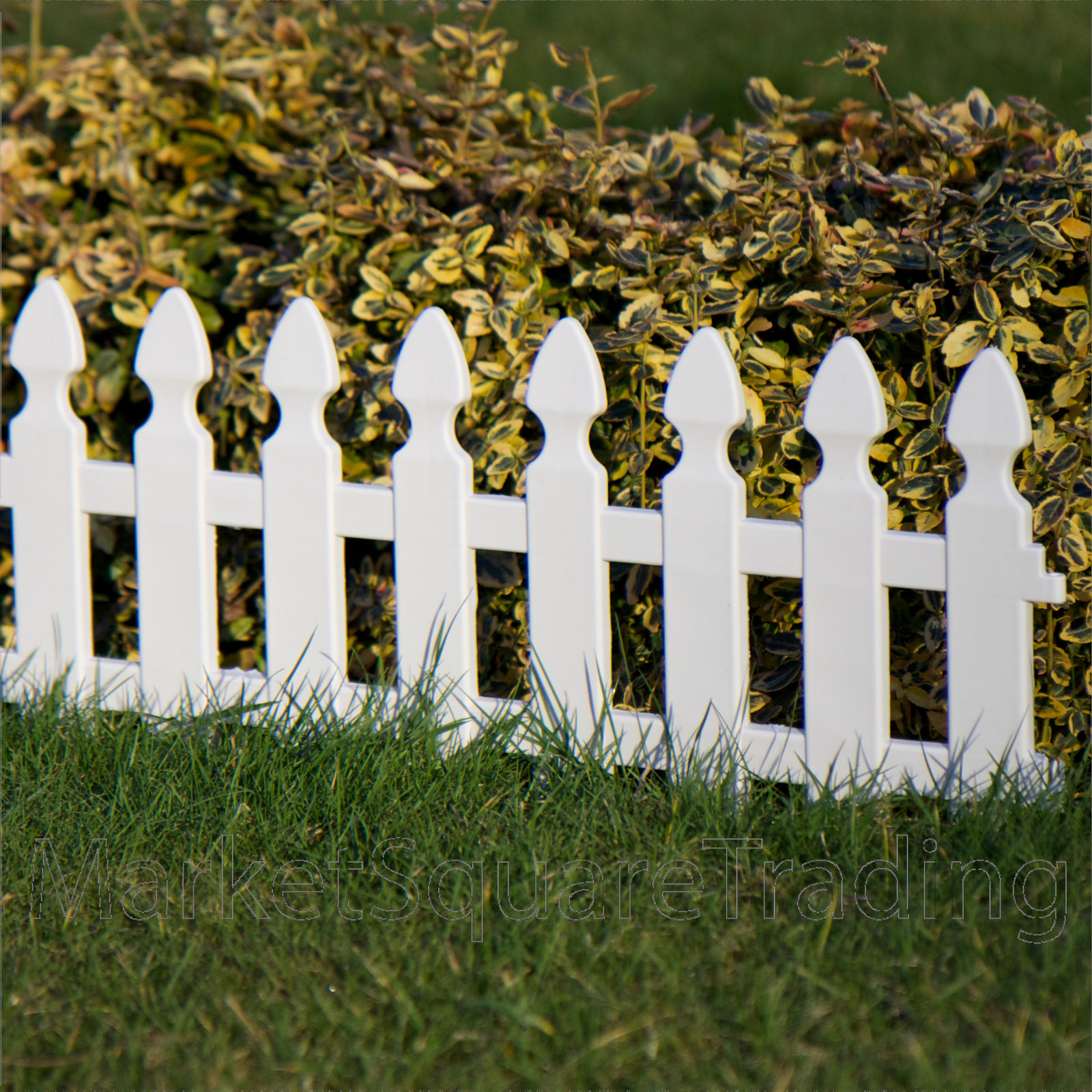 PLASTIC-FENCING-LAWN-GRASS-BORDER-PATH-EDGING-FANCY-SMALL-MINI-PICKET-FLEXIBLE
