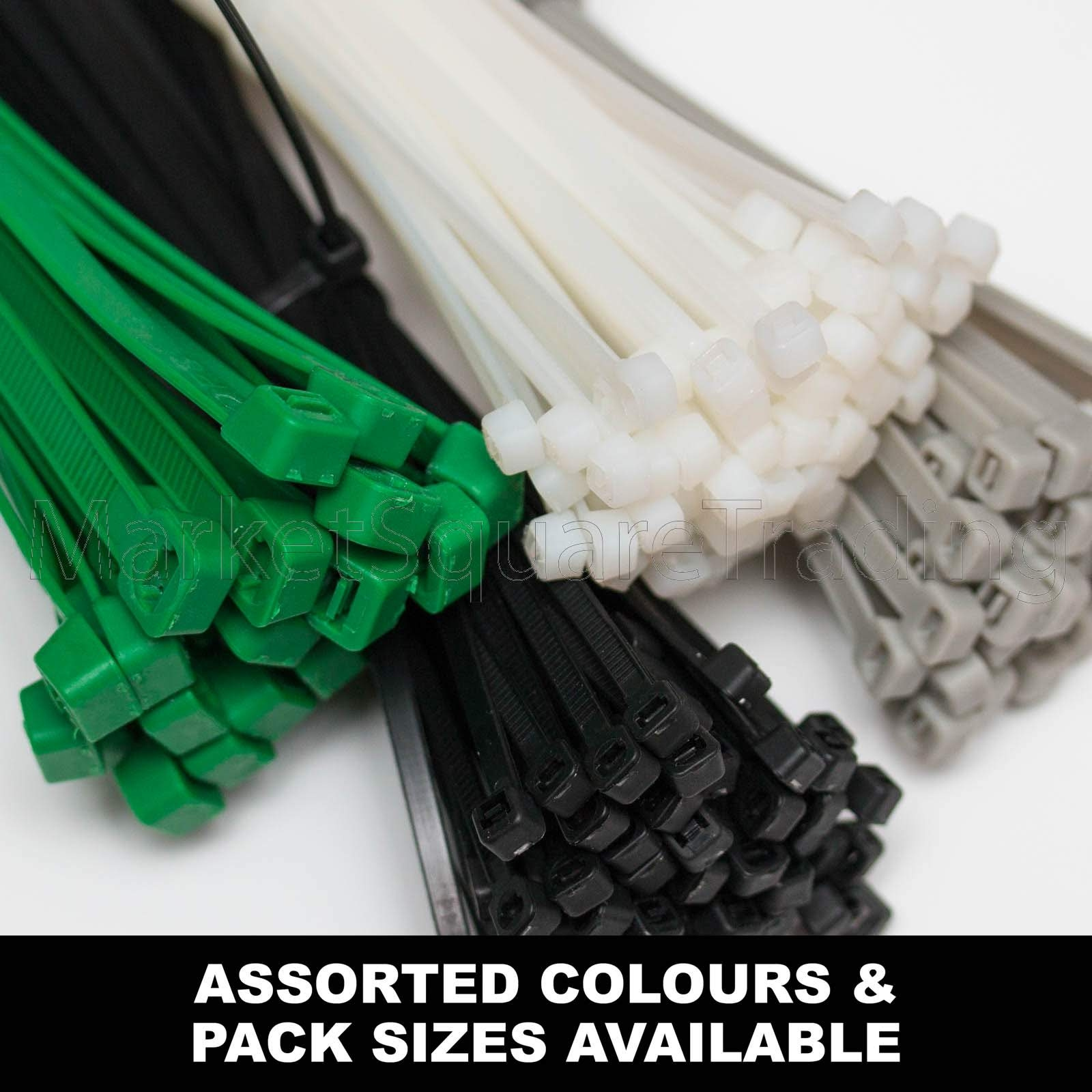 Heavy Duty Strong Nylon Cable Ties Tie Wraps Zip Ties Various Sizes Colours
